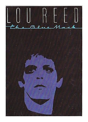 Lou Reed – Rock Singer-Songwriter - The Blue Mask Publicity Postcard