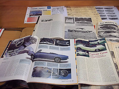 1965 Chevrolet Corvair CORSA Magazine/Literature lot of 12 items (A)