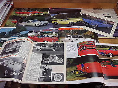 1957 Ford Thunderbird Magazine/Literature lot of 17 items (C)