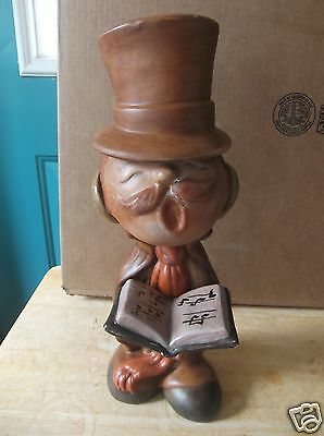 Retro Art Pottery Man Christmas Caroler with Removable Hat
