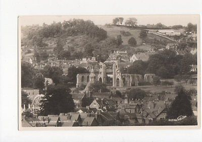 Glastonbury From Wearyall Hill RP Postcard 0761