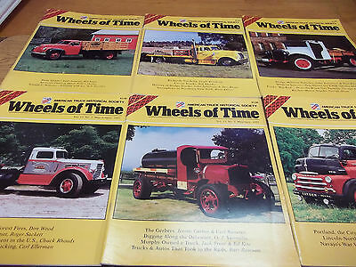 Wheels of Time magazine lot of 6 -  American Truck Historical Society (C)
