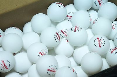 50 New Donic Coach 40+ Plastic Practice Training Table Tennis Ball - White