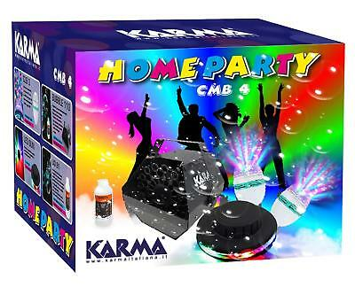 Karma CMB 4 - Kit Home party 3 + light effects machine bubbles