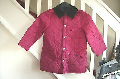 Girls Red Quilted Barbour Jacket S