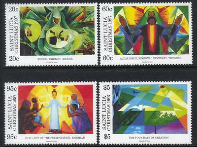 St Lucia 1997 Christmas Paintings Set