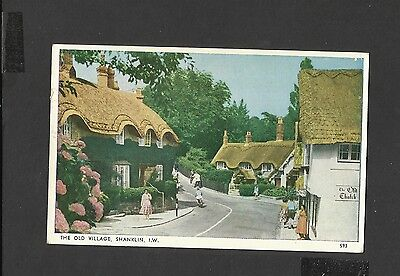 Bay  Colour Postcard The Old Village  Shanklin Isle-of-Wight Posted 1963