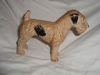 Vintage Composite Composition Airedale Wheaten Terrier Dog Figurine Old