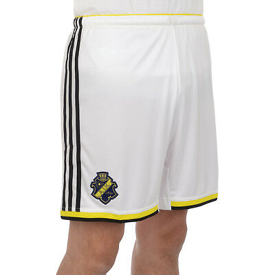adidas Performance Mens AIK Football Soccer Home Kit Shorts - White
