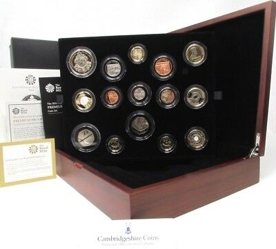 2014 Royal Mint Premium Proof British Coin Year Set Box Coa Scarce Gift