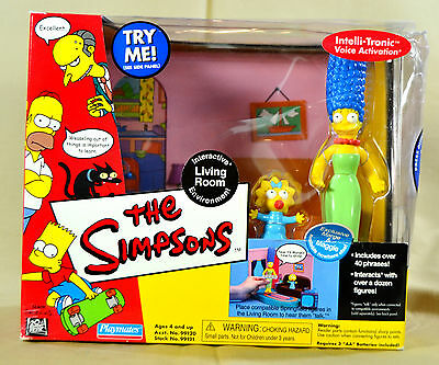 The Simpsons Living Room Playset Talking Marge & Maggie Figures Playmates