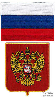 Lot Russia Flag Shield Biker Patch Embroidered Iron-On Coat Arms Vladimir Putin