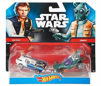 Hot Wheels Star Wars Toy Cars Han Solo Greedo Character Collectors Item Pack