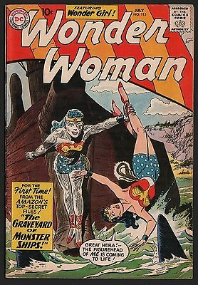 Wonder Woman #115 VG 4.0 Cream to Off White Pages
