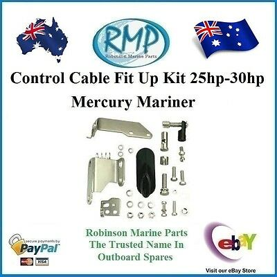 A Brand New Remote Control Fit Up Kit For 25hp-30hp Mercury Mariner # R 853800A.