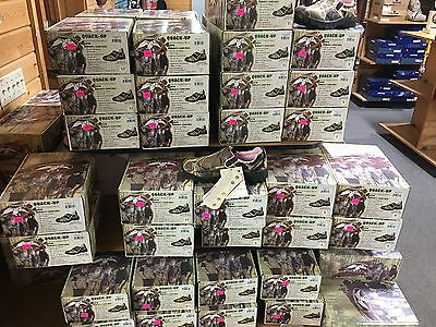 Duck Commander Dc63016-W Women's Pink Camo Pull On Moccasin Shoe Realtree Max 4