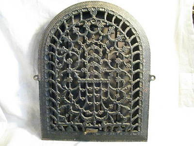 Old Vintage Antique Cast Iron Arch Top Dome Heat Grate Wall Register #12616-1