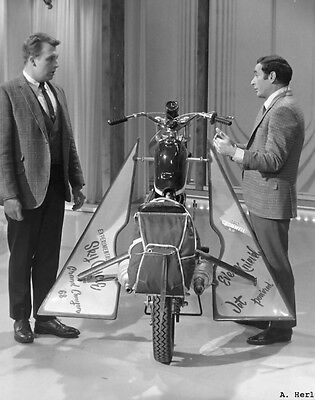 Evel Knievel & Triumph motorcycle jet engine photo 2 television apprearance