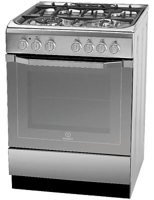 NEW Indesit Dual Fuel Freestanding Oven Best Gas Kitchen Upright Cooker 60 cm
