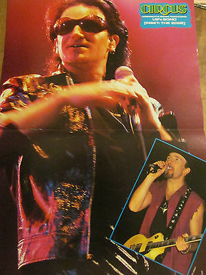 U2, Two Page Vintage Centerfold Poster