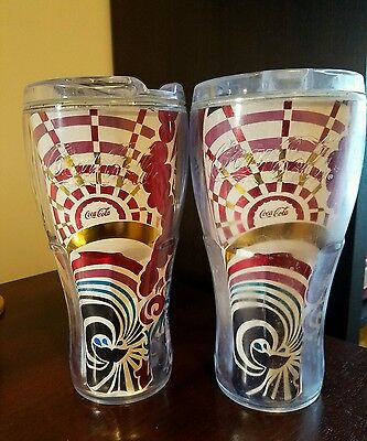 Whirley Coca-Cola & Royal Caribbean Refillabe Insulated Tumblers (2pk)