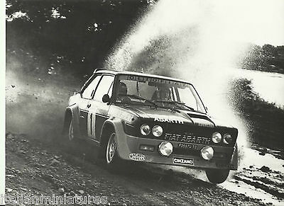 Fiat Abarth 131 Campione Mondiale Rally 1977 Original Action Race Photograph