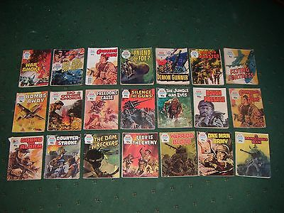 War Picture Library Comics x 21: 1960s to 1980s