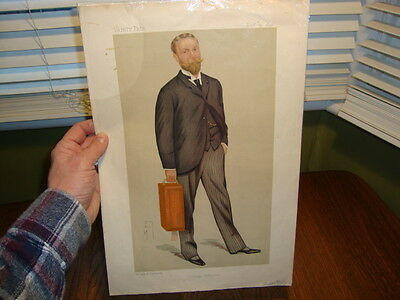 #3 VANITY FAIR Original Print 1891 James William Lowther By Spy