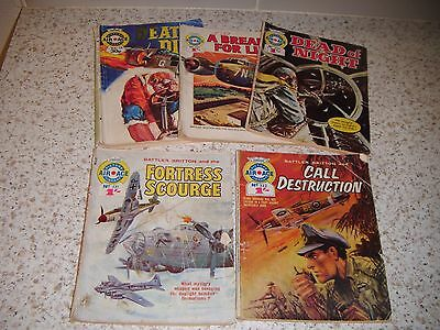 Air Ace Picture Library Comics x 5: 1960s