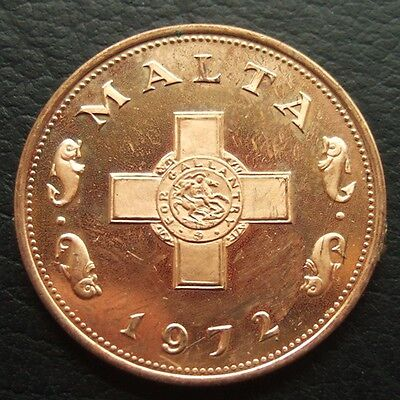 MALTA PROOF 1 CENT 1972 : NICE COIN  ...t166