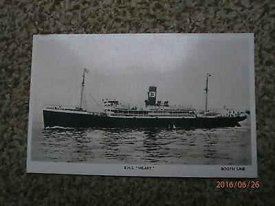 Postcard RMS Hilary Booth line.