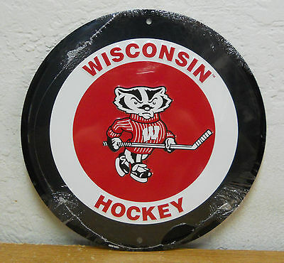 Wisconsin Badgers Hockey Sign Sign Metal  New