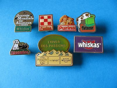 Collection of Pet Food / Pet related Pin badges.