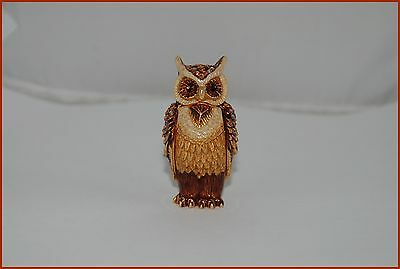 Jay Strongwater For Estee Lauder Wise-Ole-Owl Solid Perfume Compact