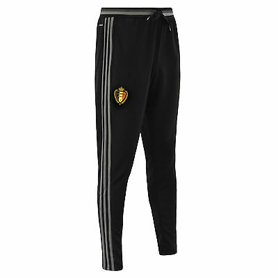 adidas Performance Mens Belgium Football Soccer Training Bottoms Pants - Black