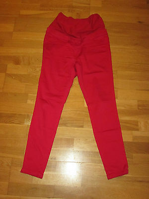 next maternity red leggings over bump jeans size 12 reg leg 29 brand new & tags