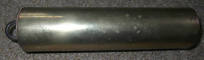 Vintage, Possibly Antique ? Brass Clock Weight - Heavy, Cylindrical Clock Weight