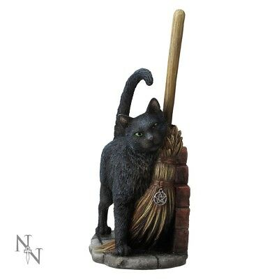 A Brush With Magick Statuette - Lisa Parker - Witches Black Cat Ornament Magic