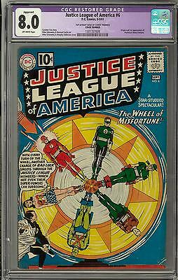 Justice League of America #6 CGC 8.0 Restored (OW) *1301357009*