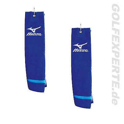 Mizuno Golf Unixes Tri-Fold Tour Towel Toalla De Golf Azul 2Er Pack