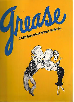 GREASE Stage Musical Theatre Program