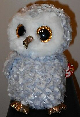 "Ty Beanie Boos ~ OWLETTE the 8-9"" Owl MEDIUM Buddy Size ~ 2016 NEW ~ IN HAND"