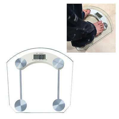 180kg/396lb New Digital LCD Glass Electronic Weight Body Bathroom Health Scale