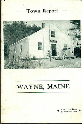 1951 ANNUAL REPORT of the Town of Wayne, Maine