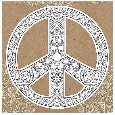 Diecut Coloring Cards -Peace Sign 767636116009