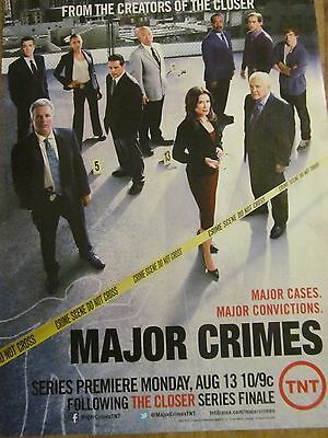 Mary McDonnell, Major Crimes, Full Page Promotional Ad