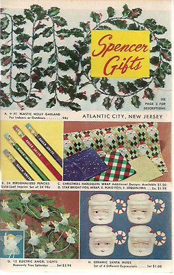 1960 SPENCER GIFTS (Atlantic City NJ) 68-page illustrated Gift Catalog
