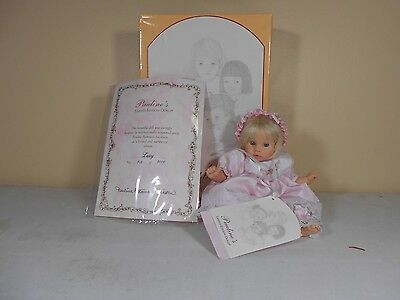 Lexy Porcelain Doll by Pauline's Limited Edition LOW # of 568 of 3000 CoA & Box