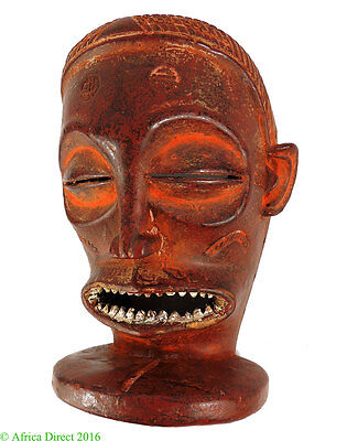 Chockwe Mask Red Mwana Pwo Congo African Art