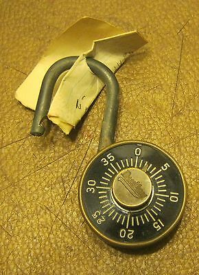 Antique DUDLEY Brass Padlock with COMBINATION!!! Works Great!! NO RESERVE!!